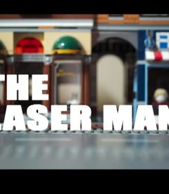 The Laser Man stop motion animation title